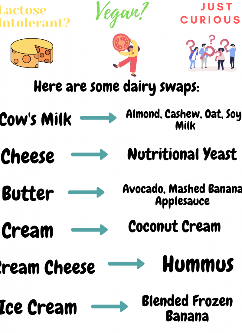 list of dairy free swaps and ideas cheese cream cheese and ice cream